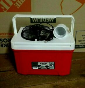 """Onos Small 9qt Personal Ice Swamp Cooler Portable Air Conditioner 6"""" USB Fan"""