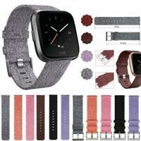 Woven Fabric Wrist Band Watch Bracelet Strap Accessories U For Fitbit Versa Y2Z8