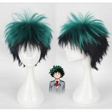 My Hero Academia Izuku Midoriya Costume Wig Green Hair For Halloween Cosplay NEW