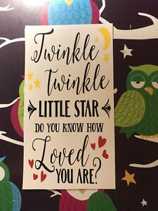 Twinkle Twinkle Little Star Do You Know How Loved You Are Wine  Bottle Vinyl