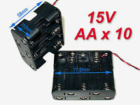 2pc Battery Holder Box Case w/Wire 10 X AA 15V A#