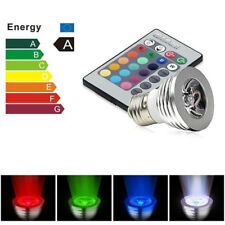 New E27 3W 16 Color LED RGB Magic spot Light Bulb Lamp Wireless Remote Control