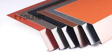 Traufblech mit Polyesterlack Aluminium 1 m Rinneneinhang Dachblech Traufe