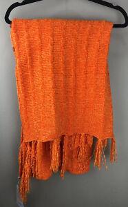 LuLaRoe Mimi - Sweater Knit Wrap #1452 - One Size Orange