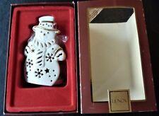 Lenox Bright Christmas Snowman Votive Candle Holder-w/ 24K Gold Trim-Unused