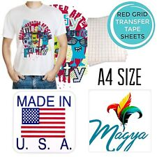 Iron On Heat Transfer Paper Light Fabrics Red Grid A4 50 Sheets Free Delivery
