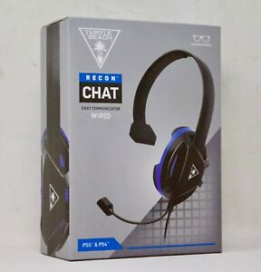 Turtle Beach Recon Chat Wired Mono Gaming Headset for PS4 Black/Blue BRAND NEW