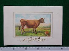 1870s-80s Dwight's Cow Brand Soda Cow on Farm Victorian Trade Card F26