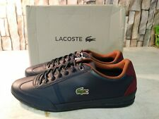 Lacoste misano Sport 317 1 Cam Sneakers Mens Casual Leather Navy Sz9.5