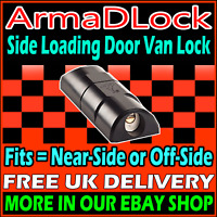 Vauxhall Vivaro High Security ArmaDLock Arma D SIDE DOOR Lock Van Hasp Padlock