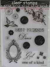 Best Friends Love Dance Clear Stamps 20 Designs (1753) Cardmaking Scrapbooking