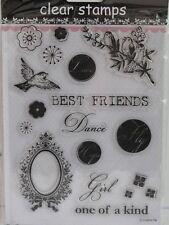 Best Friends Love Dance Clear Stamps 20 Designs (1753) Cardmaking Scrapbooking
