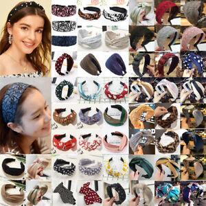 Women Headband Hairband Hair Band Bow Knot Turban Twist Headwrap Hair Hoop Xmas
