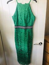Asos Encaje Vestido Midi Verde 10 * excelente Estado *
