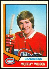 1974-75 OPC O PEE CHEE HOCKEY #359 MURRAY WILSON RC EX MONTREAL CANADIENS CARD
