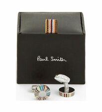 Paul Smith Men's Multi-Coloured Stripe Edge Cufflinks BNWB