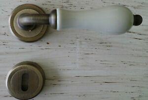 Maniglia (COPPIA) porte interne Porcellana