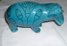 Metropolitan Museum William Blue Hippo Hippopotamus Italy Art Pottery Lg Version