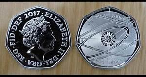 2017 Sir Isaac Newton 50p Fifty Pence Coin - Royal Mint BUNC