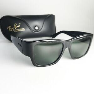 Vintage Ray Ban B&L USA NOMAD Sunglasses wayfarer square flat top chunky black