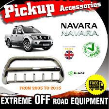 Nissan Navara 2005-15 Front Chrome High Bull Bar NuDge Bar Chrome Axle Nudge M54
