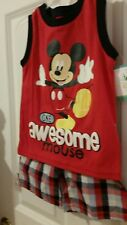 Disney Baby Boys' Mickey Mouse Short Set  SIZE 12 MONTHS   TWINS