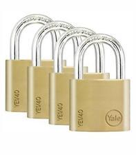 4X Yale Locks YALYE1204PK 20 mm Padlock - Brass (Pack of 4) YALYE1204