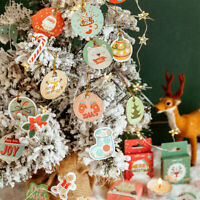 45PCS Cute Merry Christmas Decorative Stickers Diary Scrapbook Label Craft DIY