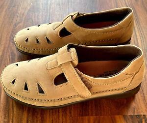 Women's Shoes Size 10W SAS Tripad Roamer Comfort Beige Sage Nubuck MSRP $169