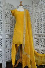 Mustard silk Indian Punjabi salwar kameez  Bollywood UK 12 /EU 38 BN SKU15760