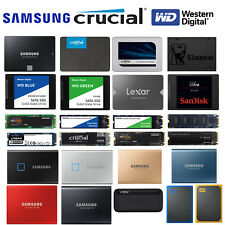 "Portable & Internal Solid State Drive 2.5"" inch M.2 NVMe Laptop/PC External SSD"
