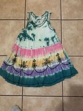 India Boutique Girls Multicolor Embroidered Boho Dress Size Small
