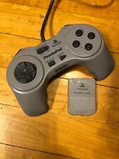 Sony PlayStation 1 InterAct Piranha Pad Controller SV-100 & Memory Card