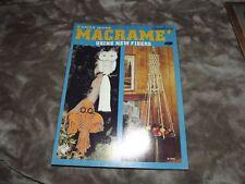 Macrame easily done macrame using new fiber Vintage Macrame Pattern Instruction
