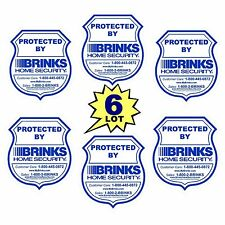 6 BRINKS ADT HOME SECURITY MONITORING SYSTEM ALARM WINDOW DECALS WARNING STICKER