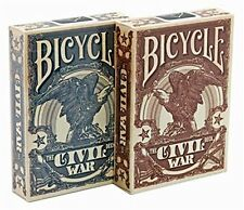 Bicycle Civil War Red & Blue Poker Playing Cards, New and MINT!