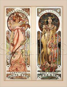 Original Alphonse MUCHA Vintage Art Nouveau PRINT Book Plate