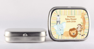 Jungle Safari Party Mint Tin Stickers - Personalized Mint Tin Labels