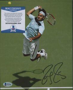 Roger Federer Tennis Signed 8x10 Photo AUTO Autograph Beckett BAS COA