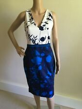 TED BAKER COBALT BLUE BEADED PARTY OCCASION DRESS UK 6 TED 0 US 2  BNWT RRP £145