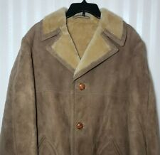Vintage Sawyer Of Napa Mens Sz 42 Sheepskin Shearling Marlboro Man Coat ~ Mint!
