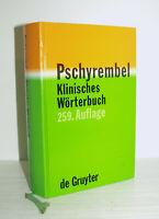 de Gruyter 🔍 PSCHYREMBEL KLINISCHES WÖRTERBUCH 259. Auflage 2002 gebunden GUT