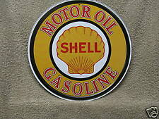 Shell Motor Oil Vintage Round Tin Metal Sign Gasoline NEW Advertising