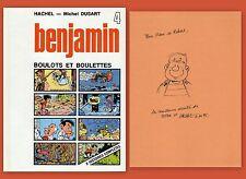 EO BD Dedicace HACHEL 1983 Benjamin 4 Boulots et boulettes signé
