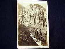 OLD ALBUMEN/CABINET CARD: LE PONT DU DIABLE~ROUTE DU ST. GOTHARD~PHOTO: GARCIN