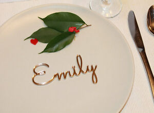 Personalized laser cut names Wedding place cards Guest names Place name settings