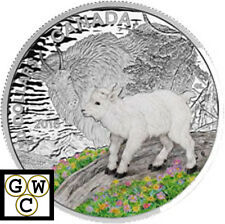 2015 Mountain Goat-Baby Animals Colorized Proof $20 Silver Coin 1oz .9999(17341)
