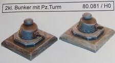 Artmaster 80.081 kleiner Bunker mit Pz Turm 2 Stück H0 1 87 Bausatz Resin