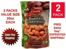 2 X Galil 100% Organic Whole Roasted Chestnuts VALUE PACK 20oz Each