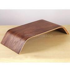 Walnut Wood Retro Laptop Notebook Monitor Table Desk Sofa Bed Stand Holder E6U7